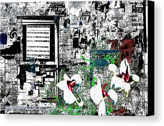 Graffiti Canvas Print featuring the digital art Graffiti 2 by Andy Mercer