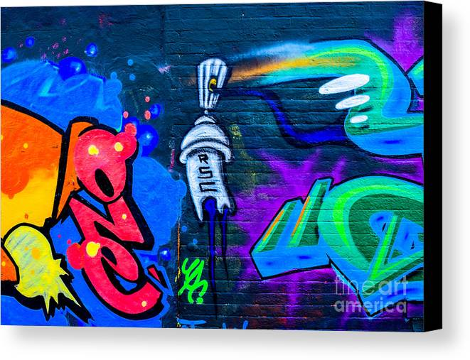 Artistic Canvas Print featuring the photograph Graffiti Art Nyc 14 by Anakin13