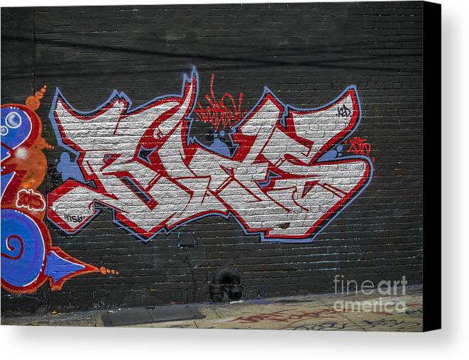 Artistic Canvas Print featuring the photograph Graffiti Art Nyc 26 by Anakin13