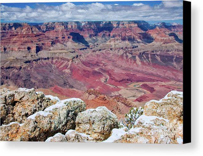 Landscape Canvas Print featuring the photograph Grand Canyon In Arizona by Julia Hiebaum