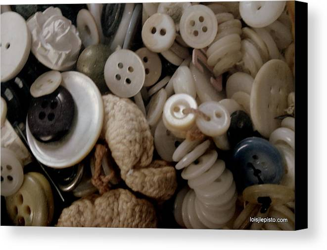 Buttons Canvas Print featuring the photograph Grandma's Buttons by Lois Lepisto