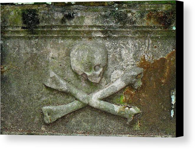 Grave Canvas Print featuring the photograph Grave Business 2 by Robert Joseph