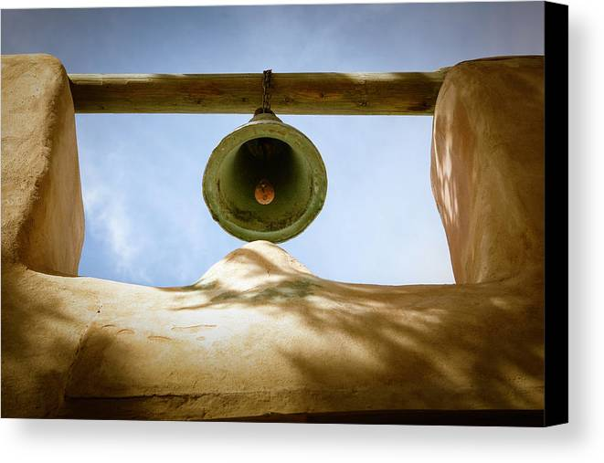 Green Canvas Print featuring the photograph Green Church Bell by Marilyn Hunt