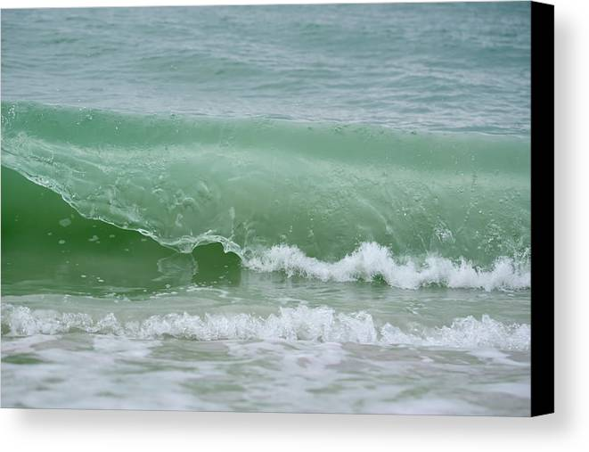Wave Canvas Print featuring the photograph Green Wave by Artful Imagery