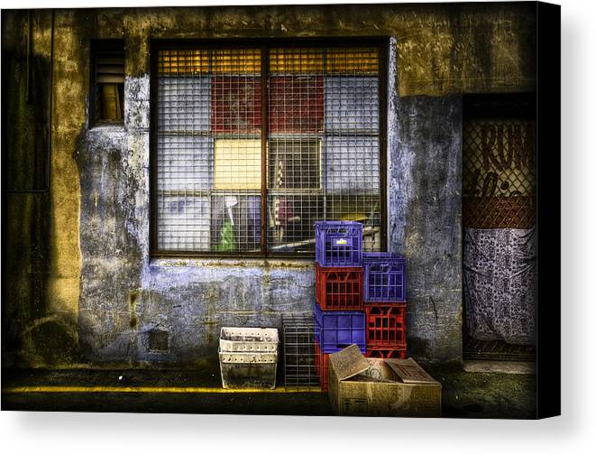 Grunge Canvas Print featuring the photograph Grunge Dept by Wayne Sherriff