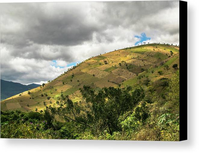 Mountains Canvas Print featuring the photograph Guatemalan Mountains - Ciudad Vieja Guatemala by Totto Ponce