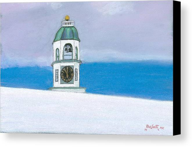 Halifax Canvas Print featuring the pastel Halifax Old Town Clock by Rae Smith PSC