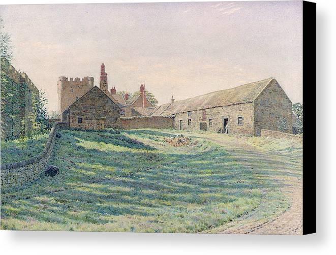 Halton Castle Canvas Print featuring the painting Halton Castle by George Price Boyce
