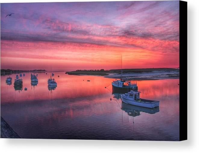 Boats Canvas Print featuring the photograph Harbor Life by Emily Sosa