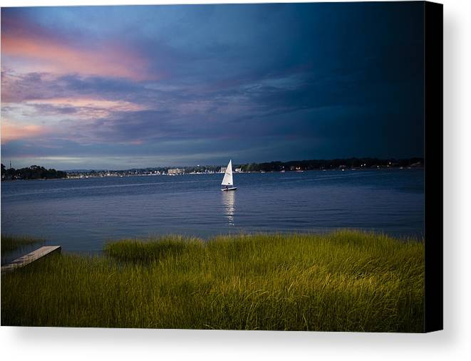 Ocean Canvas Print featuring the photograph Harborview Sunset by Joshua Francia