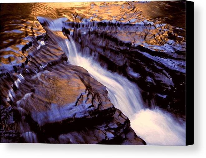 Abstract Canvas Print featuring the photograph Havana Glen Reflection by Roger Soule