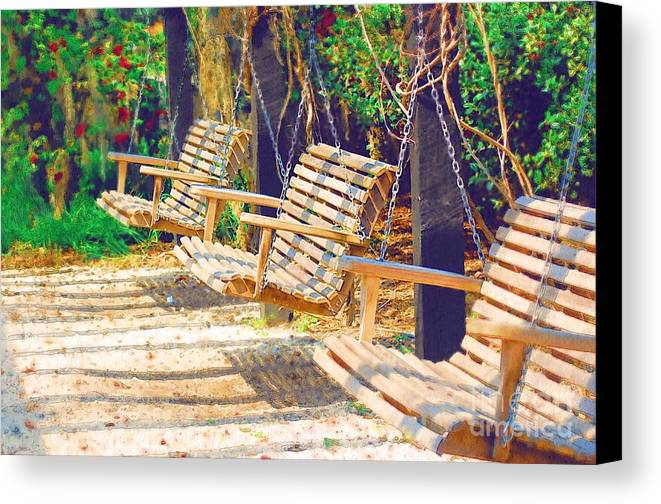 Swing Canvas Print featuring the photograph Have A Seat Relax by Donna Bentley