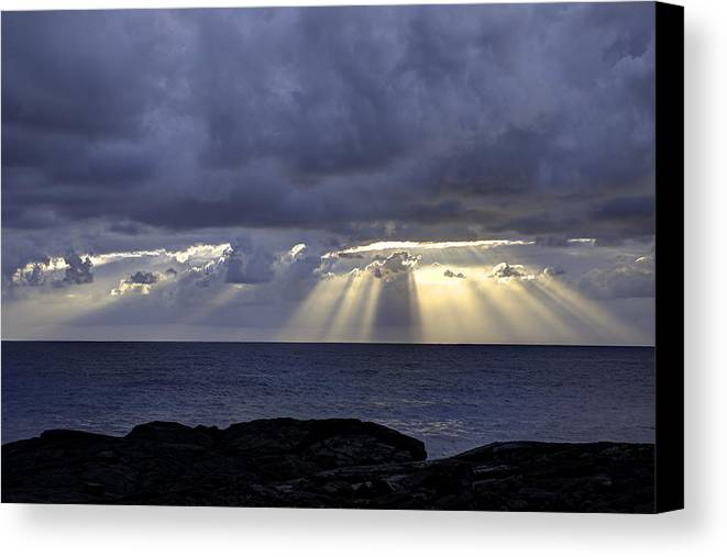 Sunrise Canvas Print featuring the photograph Hawaiian Sunrise by Mike Herdering
