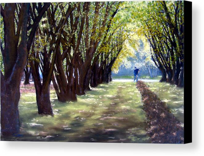 Orchard Canvas Print featuring the painting Hazel Green by Carl Capps