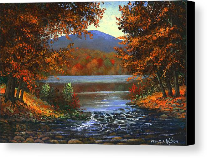 Landscape Canvas Print featuring the painting Headwaters by Frank Wilson