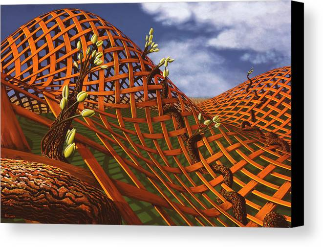 Architecture Canvas Print featuring the painting Hedera Ferrugo by Patricia Van Lubeck