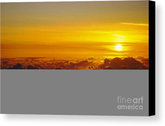 Hawaii Canvas Print featuring the photograph Heleakala Sunrise by Stan and Anne Foster