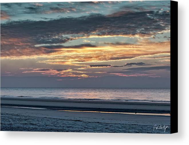 Atlantic Ocean Canvas Print featuring the photograph Here Comes The Sun by Phill Doherty