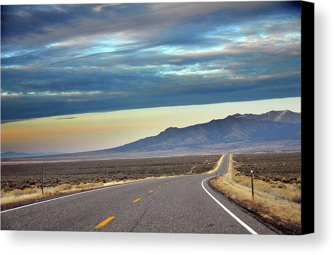 Horizontal Canvas Print featuring the photograph Highway 130 To Minersville by Utah-based Photographer Ryan Houston