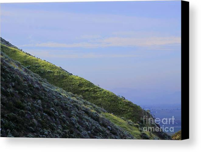 Country Canvas Print featuring the photograph Hill In Riverside by Viktor Savchenko