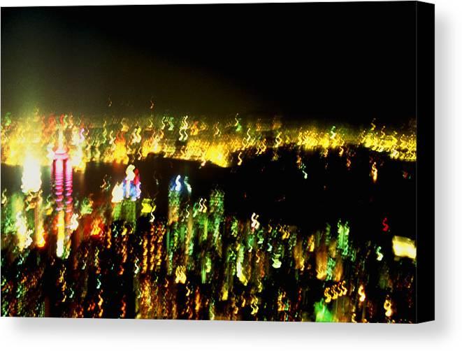 Hong Kong Canvas Print featuring the photograph Hong Kong Harbor Abstract by Brad Rickerby