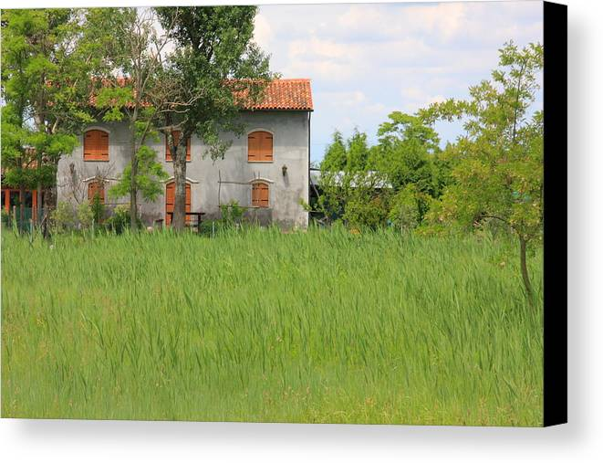 Canvas Print featuring the photograph House On Torcello In Venice by Michael Henderson