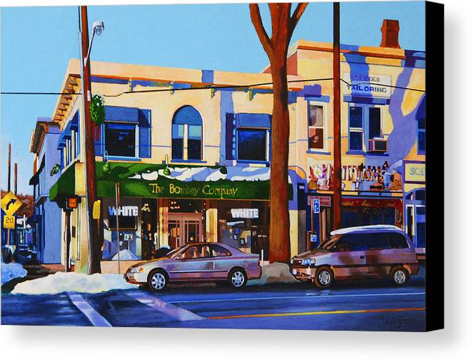 Huntington Canvas Print featuring the painting Huntington Village by John Tartaglione