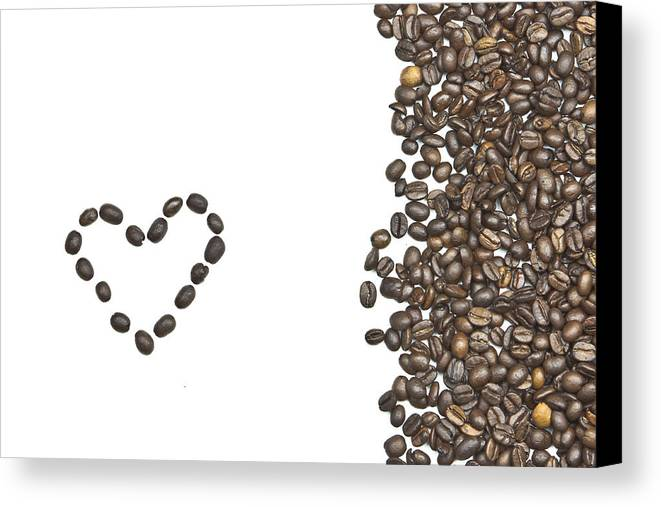 Coffee Beans Canvas Print featuring the photograph I Love Coffee by Joana Kruse