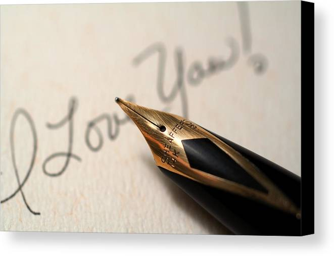 Love Canvas Print featuring the photograph I Love You by June Marie Sobrito