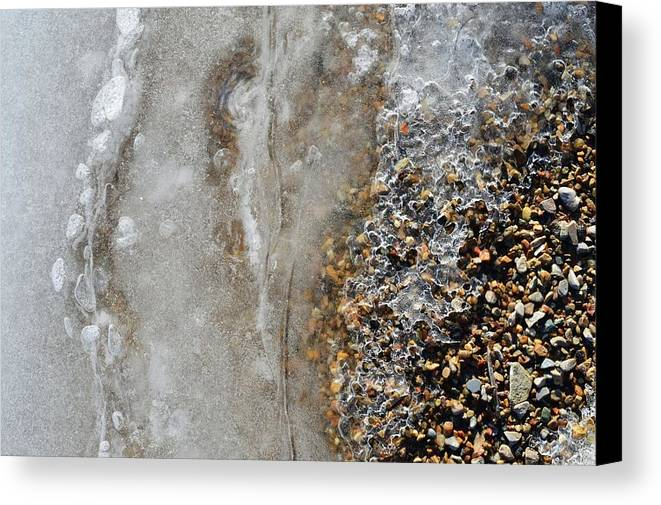 Abstract Canvas Print featuring the photograph Ice And The Beach by Lyle Crump