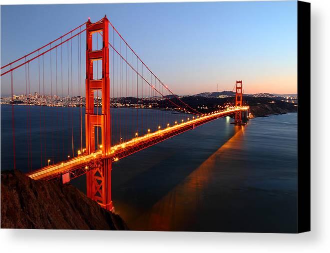 Iconic Golden Gate Bridge In San Francisco Canvas Print
