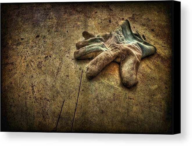 Glove Canvas Print featuring the photograph If The Glove Doesn't Fit........ by Evelina Kremsdorf