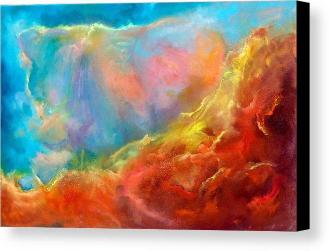 Space Canvas Print featuring the painting In The Beginning II by Sally Seago