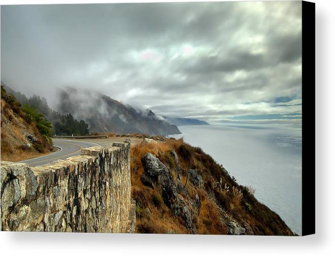 Nature Canvas Print featuring the photograph In The Clouds by Mike Irwin