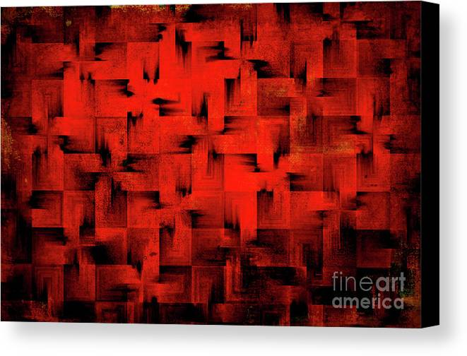 Abstract Canvas Print featuring the digital art Inferno by Silvia Ganora