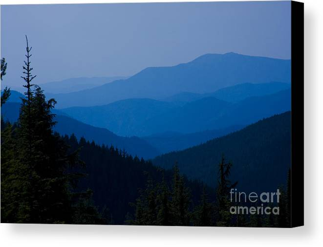 Mountain Canvas Print featuring the photograph Infinity by Idaho Scenic Images Linda Lantzy