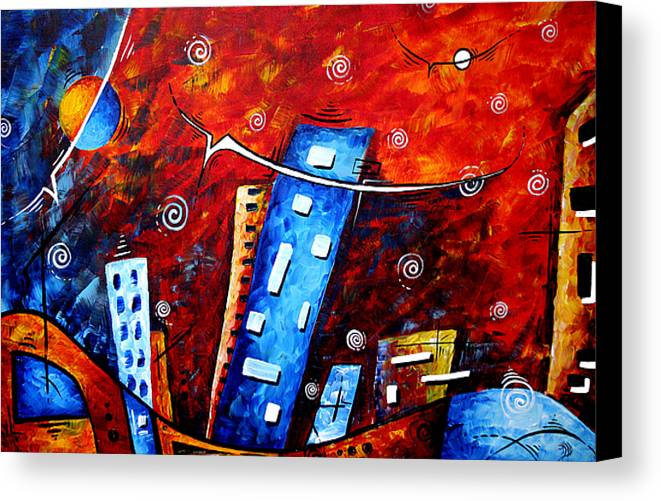 Original Canvas Print featuring the painting Inner Sanctuary By Madart by Megan Duncanson