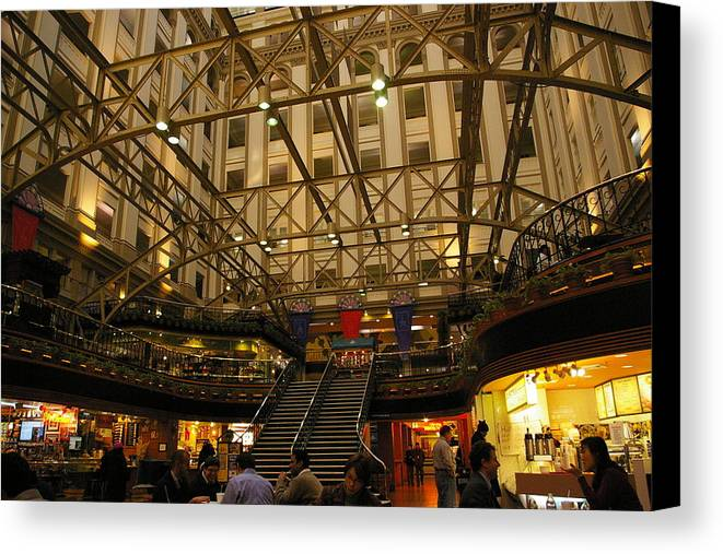 America Canvas Print featuring the photograph Inside The Old Post Office by Veron Miller