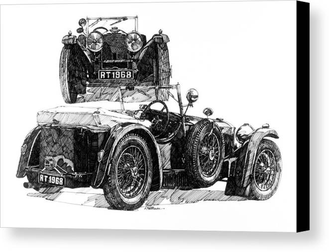 Transportation Canvas Print featuring the painting Invicta by Ron Patterson