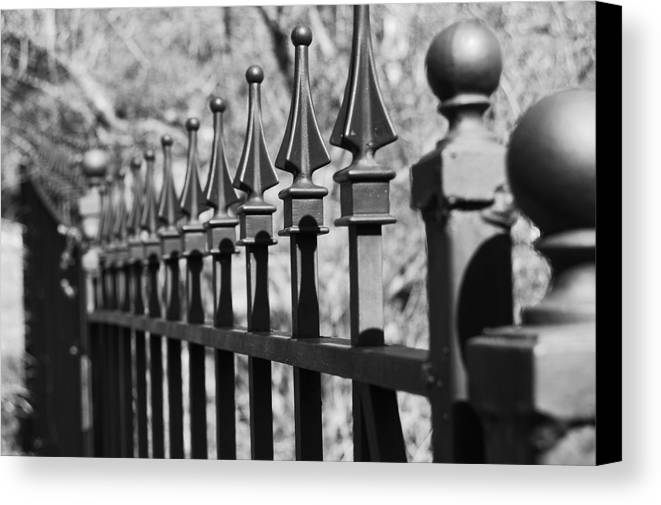 Canvas Print featuring the photograph Iron Gate by Jessica Roth