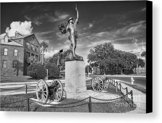 iron Mike Canvas Print featuring the photograph Iron Mke Statue - Parris Island by Scott Hansen