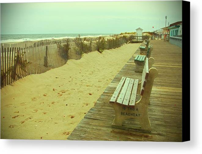 Jersey Shore Canvas Print featuring the photograph Is This A Beach Day - Jersey Shore by Angie Tirado