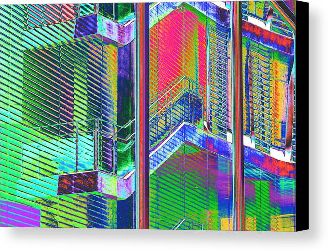 Building Canvas Print featuring the photograph Istb1 by Richard Henne