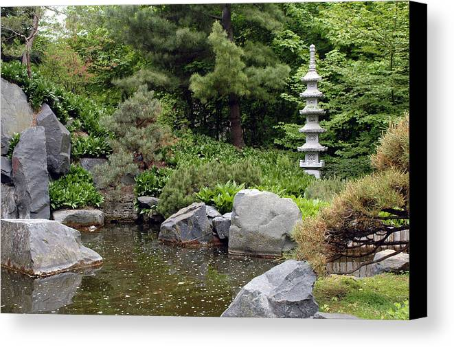 Japanese Garden Canvas Print featuring the photograph Japanese Garden Iv by Kathy Schumann