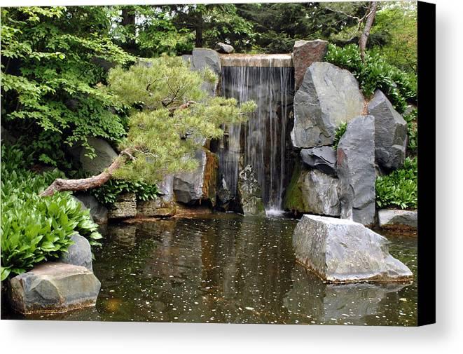 Japanese Garden Canvas Print featuring the photograph Japanese Garden V by Kathy Schumann