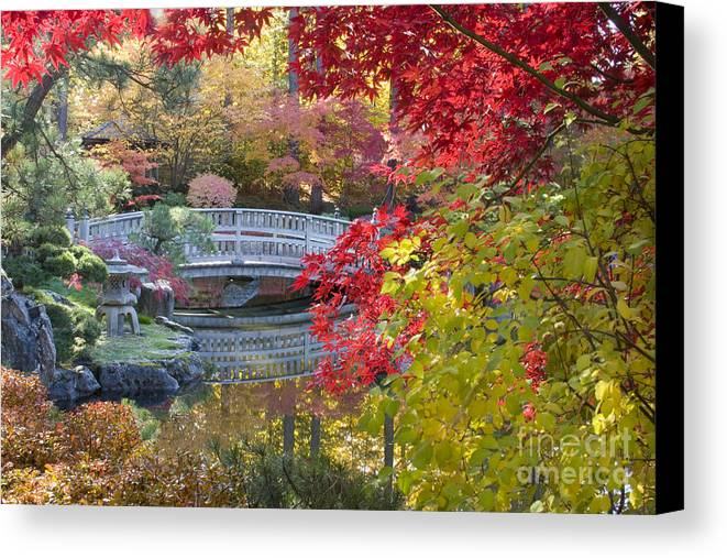Gardens Canvas Print featuring the photograph Japanese Gardens by Idaho Scenic Images Linda Lantzy