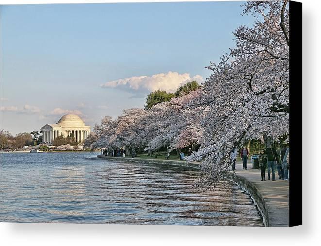 Jefferson Canvas Print featuring the photograph Jefferson Memorial # 4 by Allen Beatty