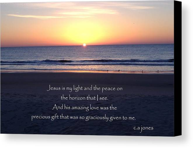 Christian Canvas Print featuring the photograph Jesus My Light by Chris Jones