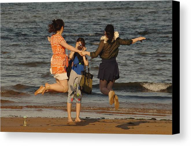 Jump Canvas Print featuring the photograph Jumping For Joy by Adrian Wale