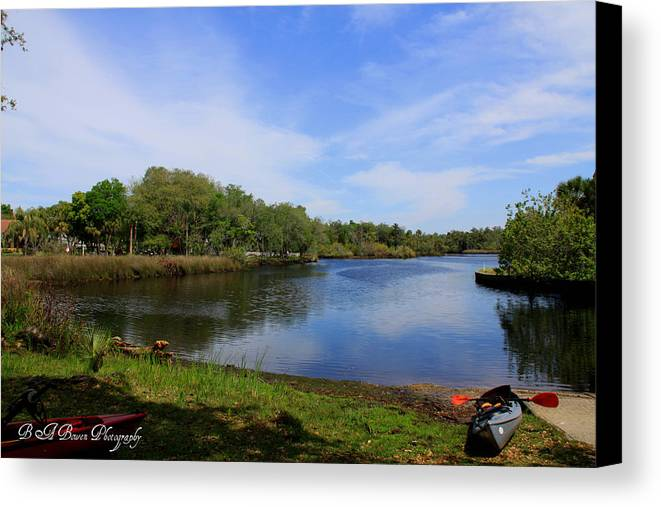 Cotee River Canvas Print featuring the photograph Kayaking The Cotee River by Barbara Bowen
